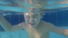 Fun in the pool on resort - stock footage