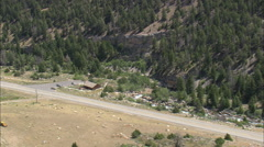AERIAL United States-Rv Park In Sinks Canyon Stock Footage