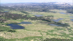 AERIAL United States-Small Lakes In The Bridger Teton National Forest Stock Footage