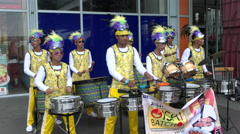 Filipino Drum Beater Group Stock Footage