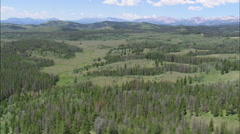 AERIAL United States-Gros Ventre Range From The Bridger Teton National Forest Stock Footage