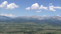 AERIAL United States-Gros Ventre Range From The Bridger Teton National Forest - stock footage