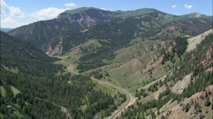 AERIAL United States-Approaching Hoback Canyon Stock Footage