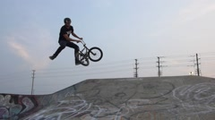 BMX Trick- Tailwhip Bank - stock footage