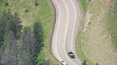 AERIAL United States-Old Landslide On Teton Pass - stock footage