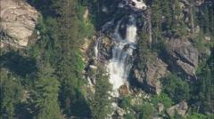 AERIAL United States-Passing Bivouac Peak Stock Footage