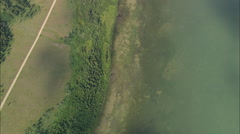 AERIAL United States-Upper Red Rock Lake Stock Footage