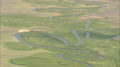 AERIAL United States-Red Rock River Stock Footage