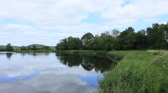 Riverbank view  river forth Stirling Stock Footage