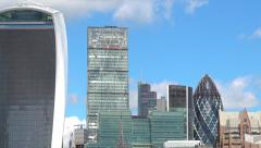 The skyline of city of London in London England UK - stock footage