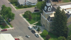 AERIAL United States-Dillon Courthouse Stock Footage