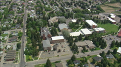 AERIAL United States-University Of Montana Western Stock Footage