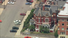 AERIAL United States-Copper King Mansion Stock Footage
