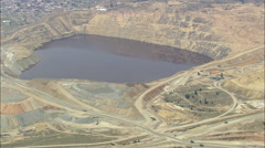 AERIAL United States-Berkeley Pit Stock Footage