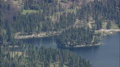 AERIAL United States-Rock Creek Lake Stock Footage