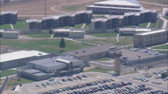 AERIAL United States-Montana State Prison Stock Footage