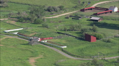 AERIAL United States-Flight Climbing Over Grant Kohrs Ranch Stock Footage