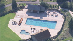 AERIAL United States-Ranch Resort Stock Footage