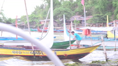 Outriggers parked in Tagaytay Stock Footage
