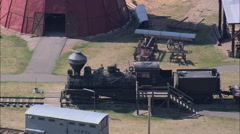 AERIAL United States-Historical Museum At Fort Missoula Stock Footage