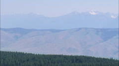 AERIAL United States-Jacko River Valley With Mission Mountains In Background Stock Footage