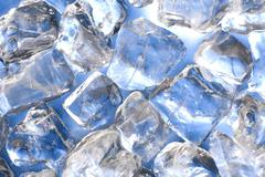 blue ice - stock photo