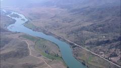 AERIAL United States-Flathead River Stock Footage