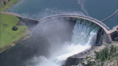 AERIAL United States-Kerr Dam Stock Footage
