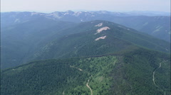 AERIAL United States-Crossing The Kootenai National Forest Stock Footage