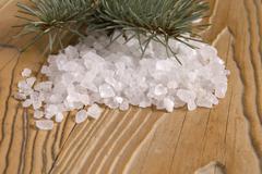 pine bath items. alternative medicine - stock photo