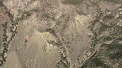 AERIAL United States-Flight Over Burnt Landscape Stock Footage