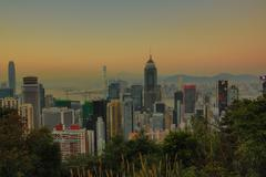 Stubbs Road lookout wan chai - stock photo