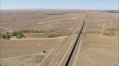 AERIAL United States-Flight Across Thunder Basin Grassland Stock Footage