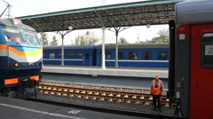 Stock Video Footage of Russia.Moscow - 2013: Coupling train