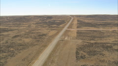 AERIAL United States-Pickup And Trailer On Dirt Road Stock Footage