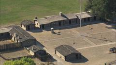 AERIAL United States-Fort Caspar Stock Footage