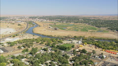 AERIAL United States-Platte River Park Stock Footage