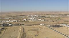 AERIAL United States-Caspar Oli Refinery Stock Footage