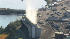 AERIAL United States-Dave Johnston Power Plant Stock Footage