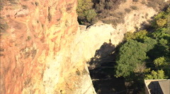 AERIAL United States-Ayres Natural Bridge Stock Footage