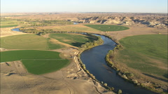 AERIAL United States-Crossing The North Platte River Stock Footage