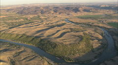 AERIAL United States-North Platte River At Sunset Stock Footage