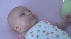 Adorable new born baby Stock Footage