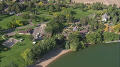 AERIAL United States-Cheyenne Botanic Gardens - stock footage