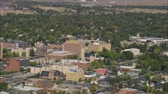 AERIAL United States-Cheyenne Stock Footage