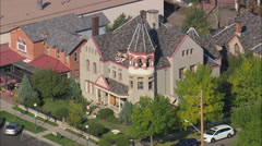 AERIAL United States-Nagle Warren Mansion Stock Footage