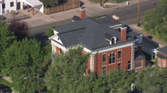 AERIAL United States-Old Governor's Mansion Stock Footage