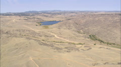 AERIAL United States-Crystal Lake Reservoir Stock Footage