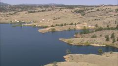 AERIAL United States-Granite Springs Reservoir Stock Footage