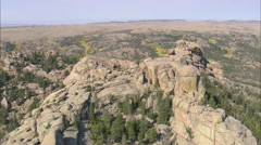 AERIAL United States-Main Clump Of Vedauwoo Rocks Stock Footage